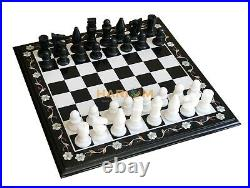 18 Marble Coffee Chess Board Table Top Indoor Games Handmade Inlay Gifts B085