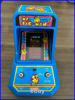 1981 MS. Pac Man Coleco Table Top Vintage Mini Arcade Tested & Working
