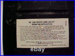 1983 COLECO NINTENDO ARCADE TABLETOP GAME DONKEY KONG JR Working