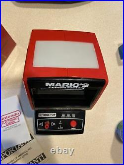 1983 Nintendo Tabletop MARIO'S CEMENT FACTORY Video Game & Watch with box Works
