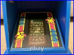 1983 Vintage Ms Pac Man Coleco Tabletop Arcade Game (works But Spring Falls Off)