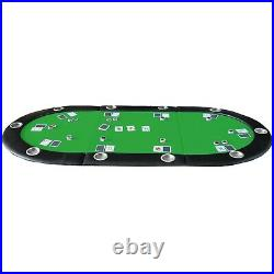 79 x 36 GREEN Folding Poker Card Game Table Top Cup Chip Holder for 10 Player