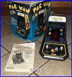 80s Vintage Coleco PAC-MAN Tabletop Electronic Game PACMAN w Original Box Manual