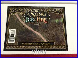 A Song of Fire and Ice Tabletop Miniatures Game Set of 3 Kickstarter Playmats