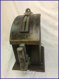 Antique Trade Stimulator Amusement Game Strength Tester Table Top Penny