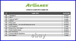 AtGames Legends Gamer Pro Tabletop Wireless Arcade With160 Games Pinball &More