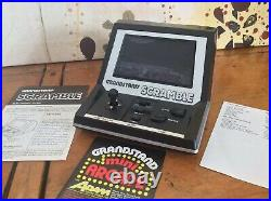 Boxed Grandstand Scramble Vintage 1982 Tabletop Electronic Game Excellent Cond