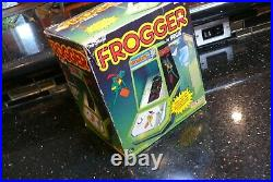 COLECO FROGGER Vintage Electronic Handheld tabletop Arcade video game IN BOX