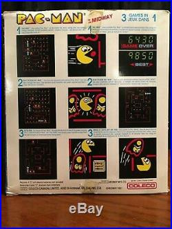 Coleco PAC-MAN Mini Electronic Tabletop Midway Arcade Game Original 1981
