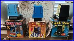 Coleco Table Top Mini Arcade Game LOT of THREE (Donkey Kong, Ms. Pacman, Pacman)
