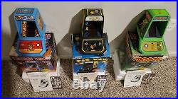 Coleco Table Top Mini Arcade Game LOT of THREE (Donkey Kong, Pacman & Frogger)