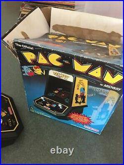 Coleco Vintage Pac-man Midway Mini Arcade Table Top Video Game 1981 in Box works