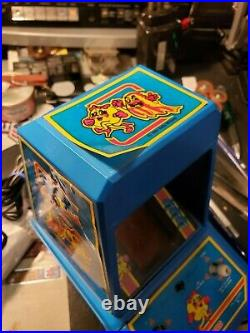 Coleco electronic tabletop mini arcade ms pac man game, refurbished