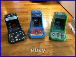 Coleco tabletop Lot Pacman Donkey Kong Frogger all work 1 missing battery cover