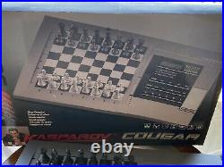 Cougar Kasparov Electronic TableTop Portable Chess Computer Missing Silver Piece