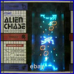 Double screen ALIEN CHASE jeu arcade électronique table top TOMY no Nintendo