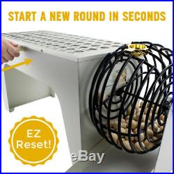 EZ-Reset Professional Tabletop Bingo Set with Wood Balls and Cage