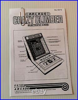 Entex CRAZY CLIMBER Vintage Electronic Handheld Tabletop Arcade Video Game CIB