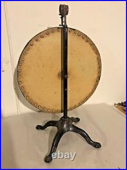 Excellent American Painted Game Wheel Folk Art Table Top Size Strong Colors