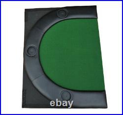Folding Poker Table Top 10 Players Blackjack Table Casino Chip Tray