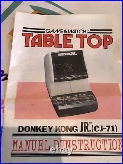 Game & Watch Table Top Donkey Kong JR 1981 marque nintendo
