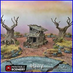 Gaslands Terrain Desert Shanty 28mm Building Apocalypse Tabletop Mad Max