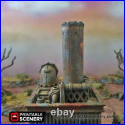 Gaslands Terrain Recycling Tower 28mm Building Apocalypse Tabletop Mad Max