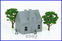 German Village Set of 4 Houses Tabletop Wargaming Terrain Miniature Gaming