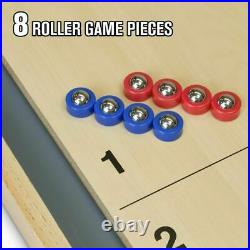 GoSports Shuffleboard and Curling 2 in 1 Table Top Board Game with 8