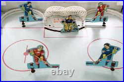 Gotham Pressed Steel Big League NHL Table Top Hockey Metal Game Toy With Box 1959