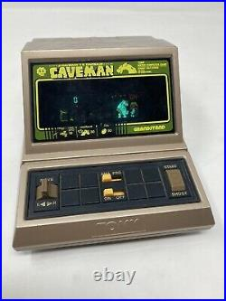 Grandstand CAVEMAN Table Top LED Electronic Handheld Game TOMY Vintage 1983