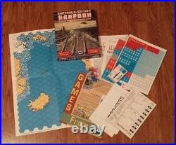 Harpoon Captain's Edition (Tabletop Game, 1990) GDW Games navy UNPUNCHED RARE