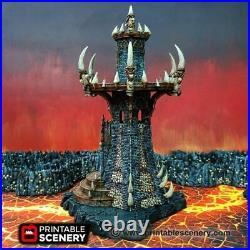Infernal Tower, 15mm 28mm Demon Terrain Warhammer 40k, Chaos, DnD, Tabletop