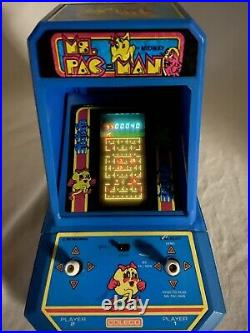 MS. PAC-MAN Vintage Tabletop Electronic Game Coleco 1981 Mini Arcade by Midway