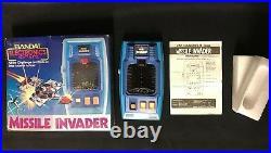 Missile Invader Bandai Electronic Handheld Tabletop Arcade Game Complete Works