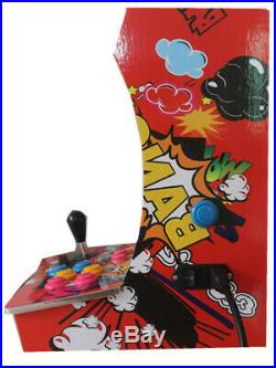 Ms. Pac-Man Upright Bartop/Tabletop Cocktail Arcade Machine With 412 Classic Games
