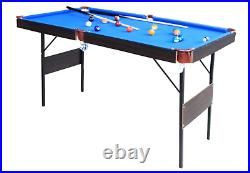 NEW Folding Pool Tables Billiard Table Set Table Top Pool Snooker Garage Games