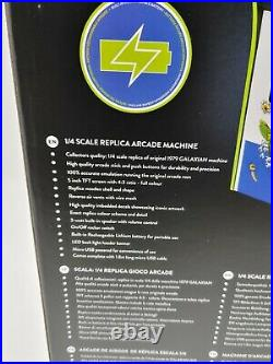 NIB Galaxian 1/4 Scale Arcade Machine Numskull Quarter Arcade Game Tabletop
