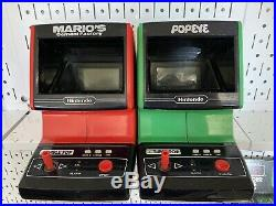 Nintendo Game And Watch Tabletop Arcade LOT Mario Cement Factory Popeye Vintage