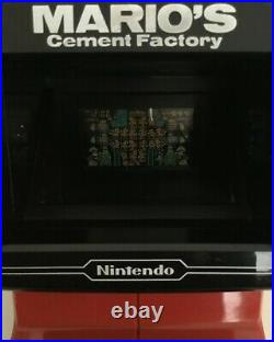 Nintendo Game & Watch Mario's Cement Factory Table Top Near Mint Works Perfectly