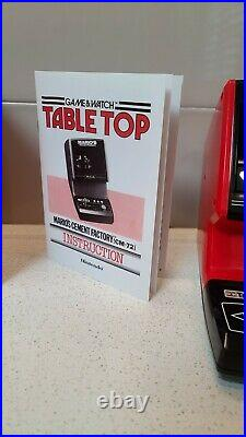 Nintendo Game Watch Table Top Mario Cement Factory with Box & Instructions