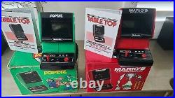 Nintendo Game Watch TableTop Mario Cement Factory & POPEYE (Box & Instructions)