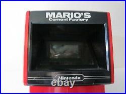 Nintendo Mario's Cement Factory Game & Watch 1983 Tabletop Arcade Game