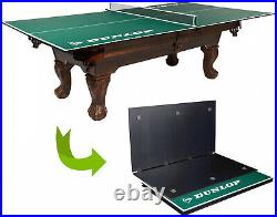 Official Size Ping Pong Table Conversion Top Fits Over Pool Table Kids Game Room
