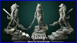 Oleana Werewolf Queen Fantasy Miniature Warhammer D&D Tabletop Game RPG