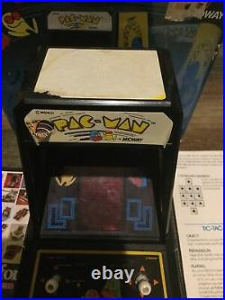 PAC-MAN Vintage 1981 Tabletop Electronic Game Coleco Mini Arcade Midway Rare Box