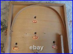 RARE VINTAGE WOODEN TABLE TOP BAGATELLE BOARD GAME BY EXITOY czechoslovakia