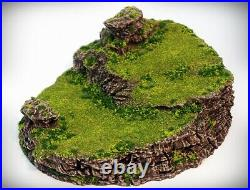 Ramp Spiral Tabletop Wargaming, D&D 3D printed hill scatter terrain