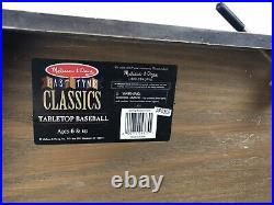 Rare Melissa & Doug Past-Tyme Classics Table Top Baseball Pinball Game