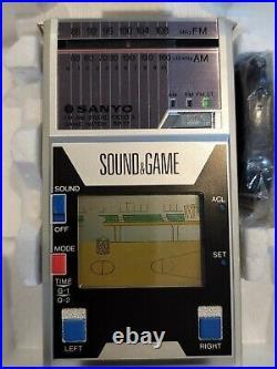 Sanyo Game & Watch Handheld Tabletop Basketball Radio 1983